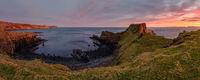 Brothers Point on the Scottish coast at sunrise