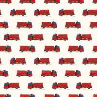 Fire truck doodle pattern