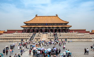 The entrance of the famous Forbidden city in Beijing, China.