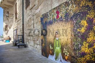 Mural in Monopoli Puglia Italy