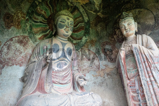 Maijishan Grottoes near Tianshui, Gansu Province, northwest China