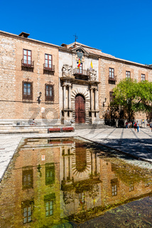 Archiepiscopal Palace in Town Hall Square in Toledo