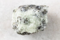 unpolished saccharoidal Apatite rock on white