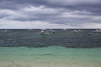 Fisherman Boats on the Ocean at Alona Beach on Panglao Island