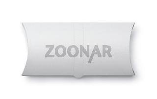Top view of white blank doner kebab paper packaging