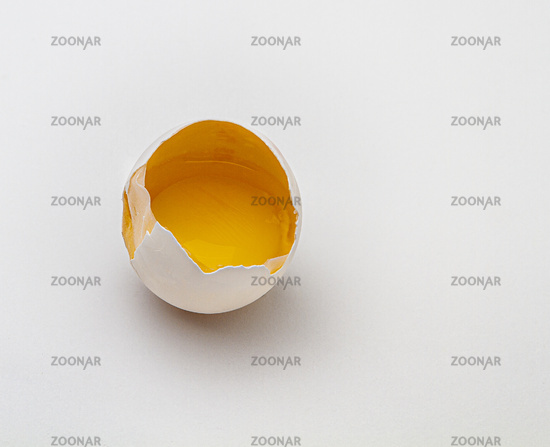 inside a crack egg