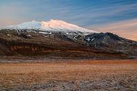 Snaefellsjokull at sunset, Iceland