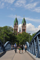 Wiwili Bridge Freiburg Germany with bikes