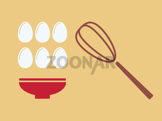 Eggs with plate.