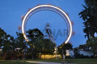 Beleuchtetes Riesenrad am Prater, Wien