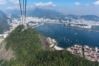 Panoramic view of Rio de Janeiro from the top of the sugarloaf mountain