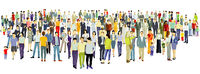 Large group of people on white background. – Vektor Illustration