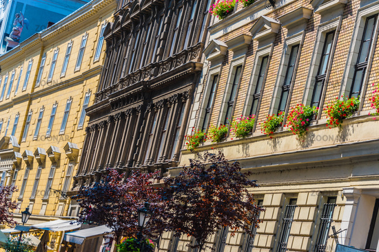 Historic architecture of downtown Budapest