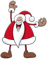 cartoon happy Santa Claus Christmas character