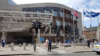 Das Gebäude des Schottischen Parlaments in Edinburgh