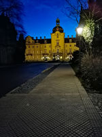 Front of main Buckeburg Palace in Lower Saxony, Germany