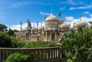 BRIGHTON, SUSSEX/UK - AUGUST 31 : View of the Royal Pavilion in Brighton Sussex on August 31, 2019