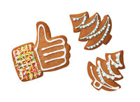 Gingerbread Cookies Isolated Over White Background