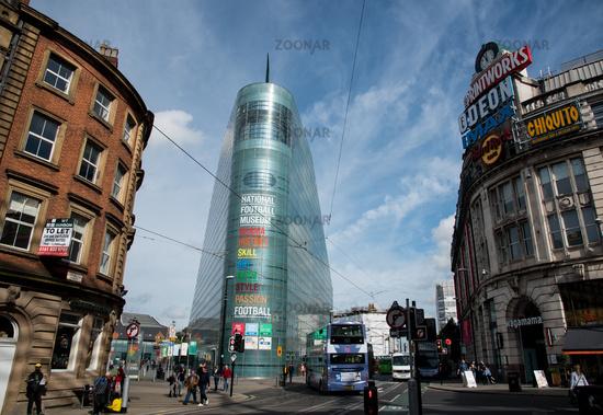 National Football museum Manchester UK
