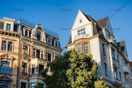 Halle Saale, Germany - June 17, 2019 - renovated houses