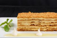 Esterhazy Torte on plate