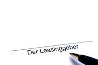 Signature of the lessor