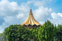 The New Sarawak State Legislative Assembly Building in Kuching, Malaysia