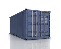 Rendering of a shipping container.