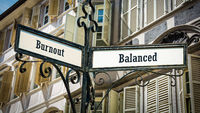 Street Sign to Balanced versus Burnout