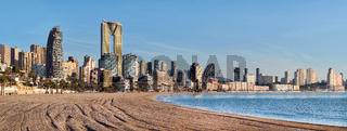 Sandy beach of Benidorm. Spain