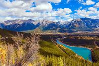Majestic panorama of Rocky Mountains