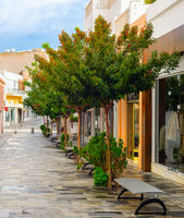 Touristic shopping street, Paphos, Cyprus