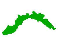 Karte von Ligurien - Map of Liguria