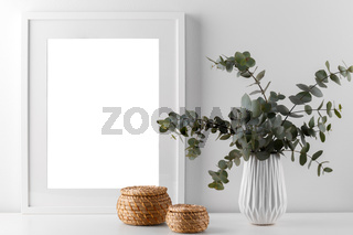 Eucalyptus and picture frame mock up