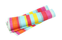 Colorful striped cotton placemat