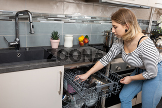 A dishwasher is necessary equipment that is used in every kitchen.