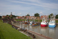 Fishing boats at the harbor of Ditzum