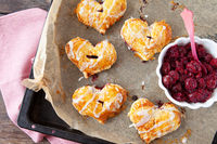 Cherry filled puff pastry