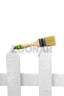 An image of paintbrush on white background