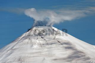 Avacha Volcano - active volcano of Kamchatka Peninsula