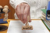 Stempel Mangelhaft | stamp unsatisfactory