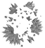 Shattering Spiky Ball Metal Shell