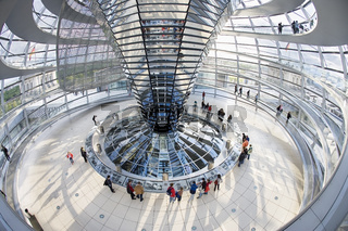 Inside the Reichstag Dome in the afternoon