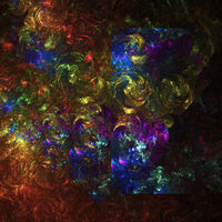 Computer generated multi colored fractal abstract background