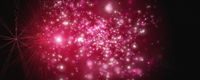 Powerful particle panorama background design illustration with light