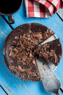 Sweet chocolate cheese cake.