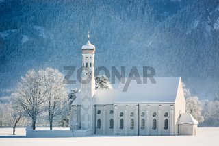 St. Coloman at wintertime, Allgäu, Germany