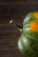 close up of a green squash