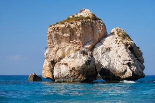 A sea stack on the Aphrodite's (Petra of Romiou) beach. Kouklia. Cyprus