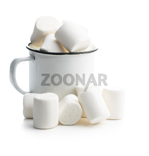 White sweet marshmallows candy.